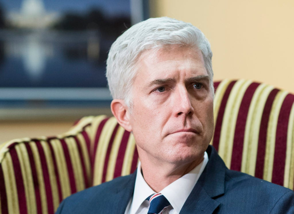 "Neil Gorsuch wrote last year that the Chevron doctrine has allowed ""executive bureaucracies to swallow huge amounts of core judicial and legislative power."" (Photo: Bill Clark/CQ Roll Call/Newscom)"