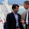 President Obama and Gov. Jindal don't fare well with Louisiana senate candidates. (Photo: Pete Souza/Newscom)