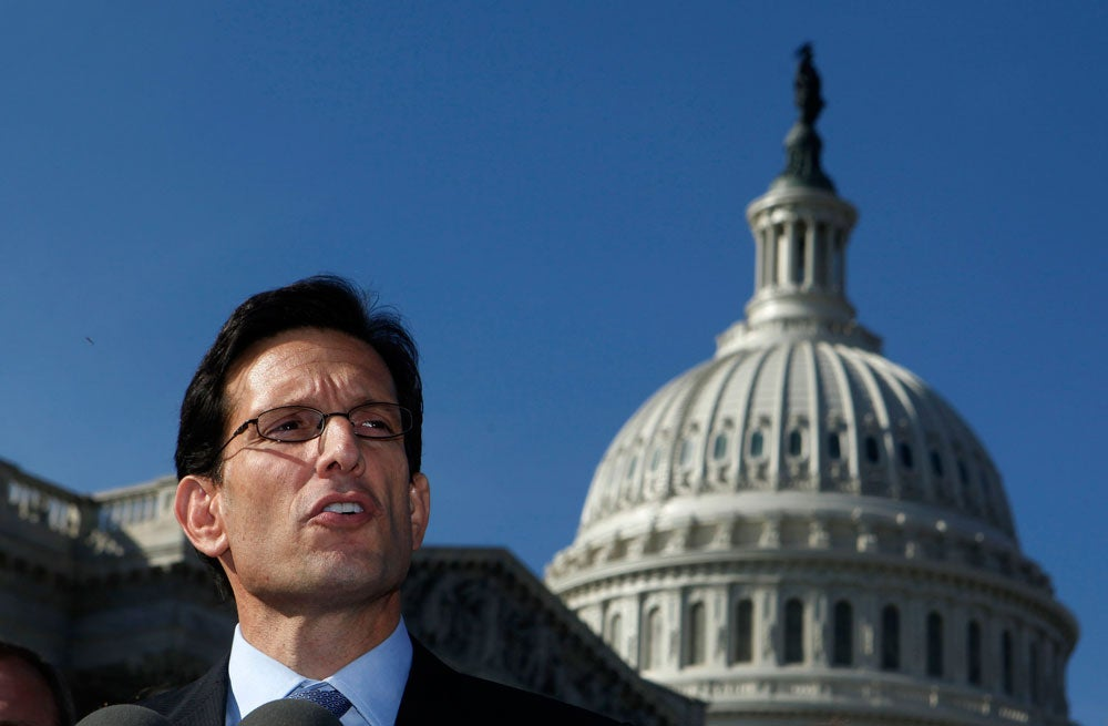 House Majority Leader Eric Cantor unveils JOBS Act