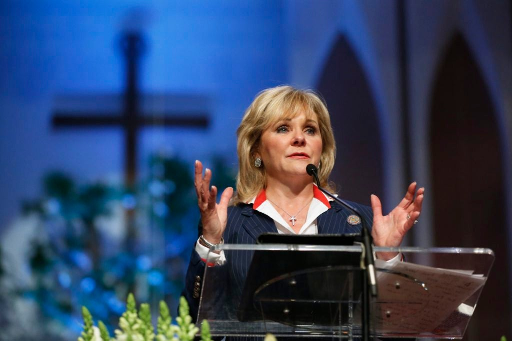 Oklahoma Gov. Mary Fallin says her personal experiences inform her belief that prison is not the best place to help a woman overcome her addiction. (Photo: Pool/Reuters/Newscom)