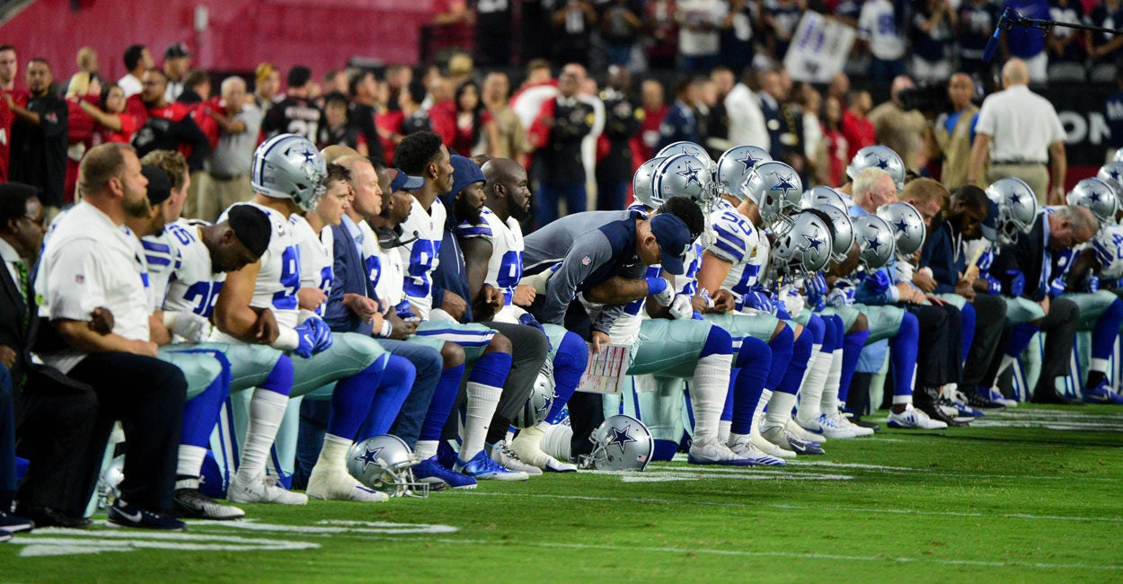 we hear you it u0027s nfl u0027s right to take a knee it u0027s our right not