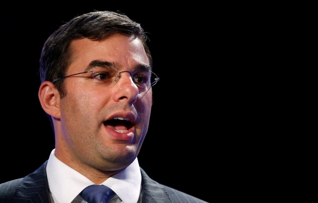 "Rep. Justin Amash, R-Mich., is a leading opponent of the no-fly list because he believes it infringes ""on our rights without due process."" (Photo: Kevin Lamarque/Reuters/Newscom)"