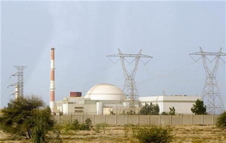 A general view shows the reactor at the nuclear power plant in Bushehr, Iran.