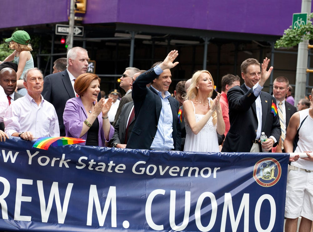 Governor Andrew Cuomo and other Politicians attend 2011 Gay Pride March in NYC