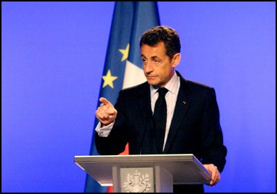 President of France Nicolas Sarkozy