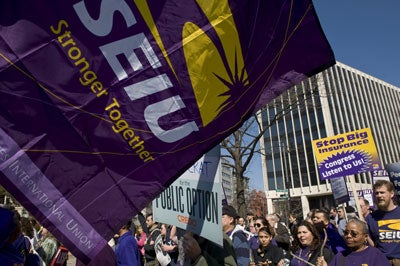 SEIU Health Care Protest