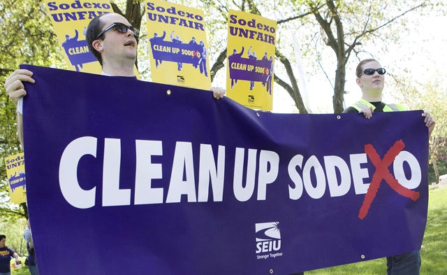 DC: SEIU PROTESTS AGAINST SODEXHO