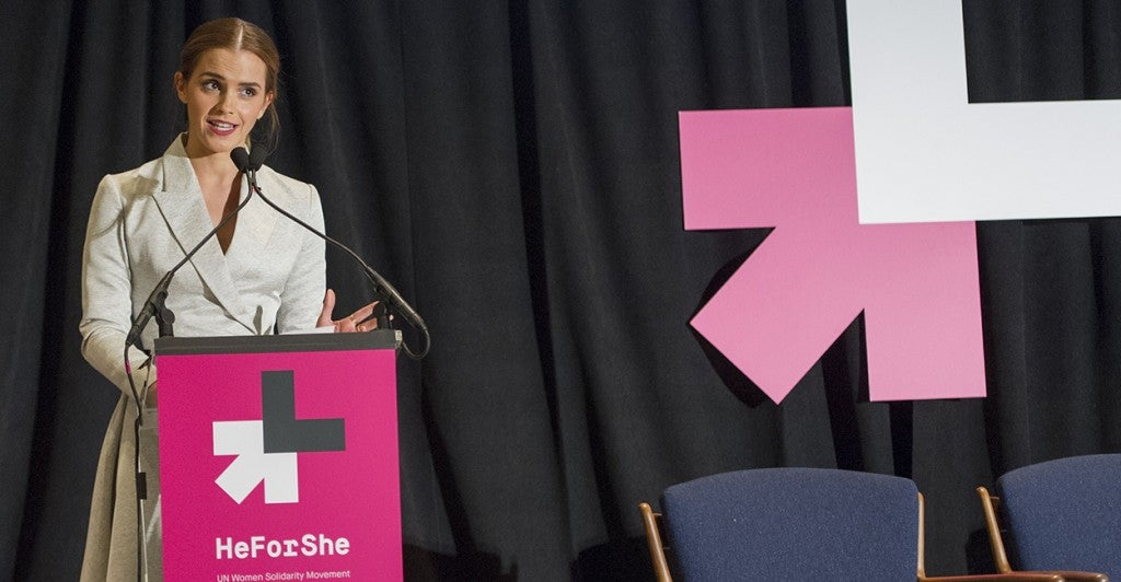 Emma Watson speaks at the UN's He for She event Sept. 20. (Photo: Newscom)