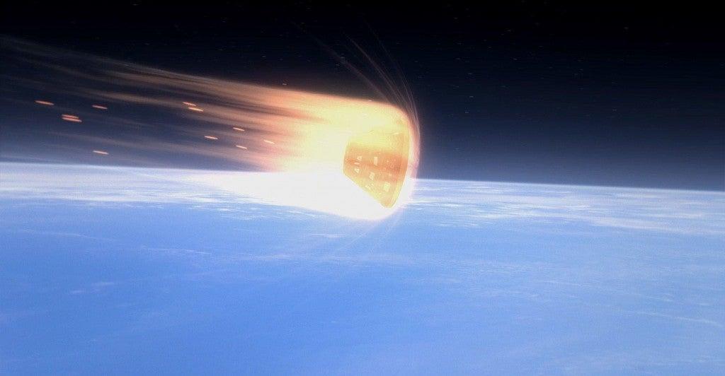Orion Exploration Flight Test 1 animation. (Photo: NASA/Newscom)