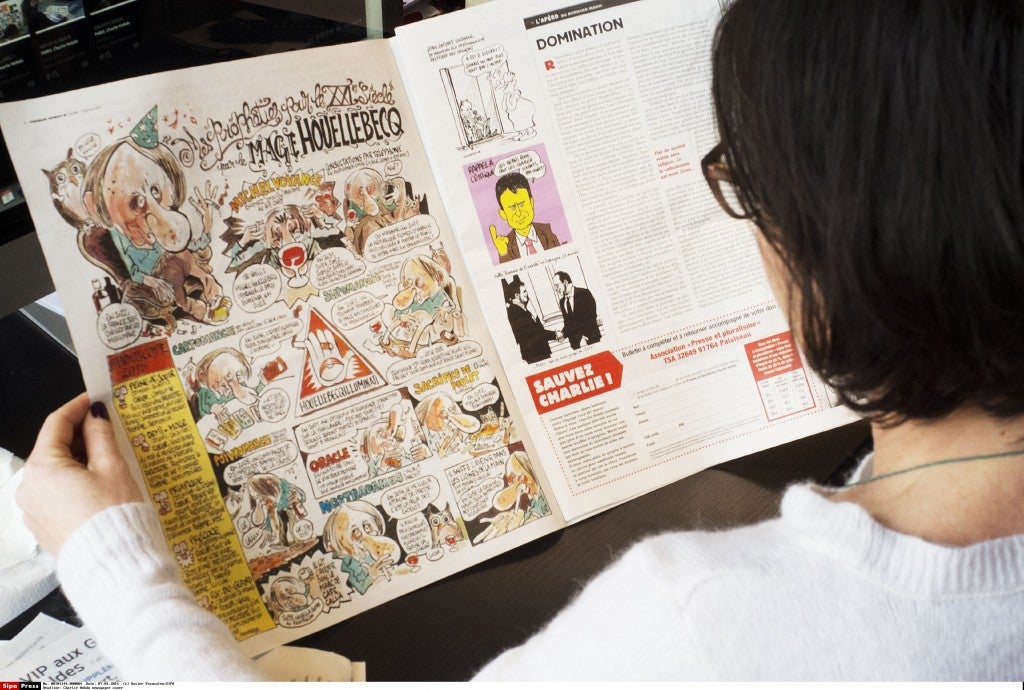 An inside look at Charlie Hebdo. (Photo: Newscom)