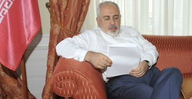 Iranian Foreign Minister Mohammad Javad Zarif, who is no doubt pleased that the deal allows Iran to keep its nuclear infrastructure. (Photo: Farnood/SIPA/Newscom)