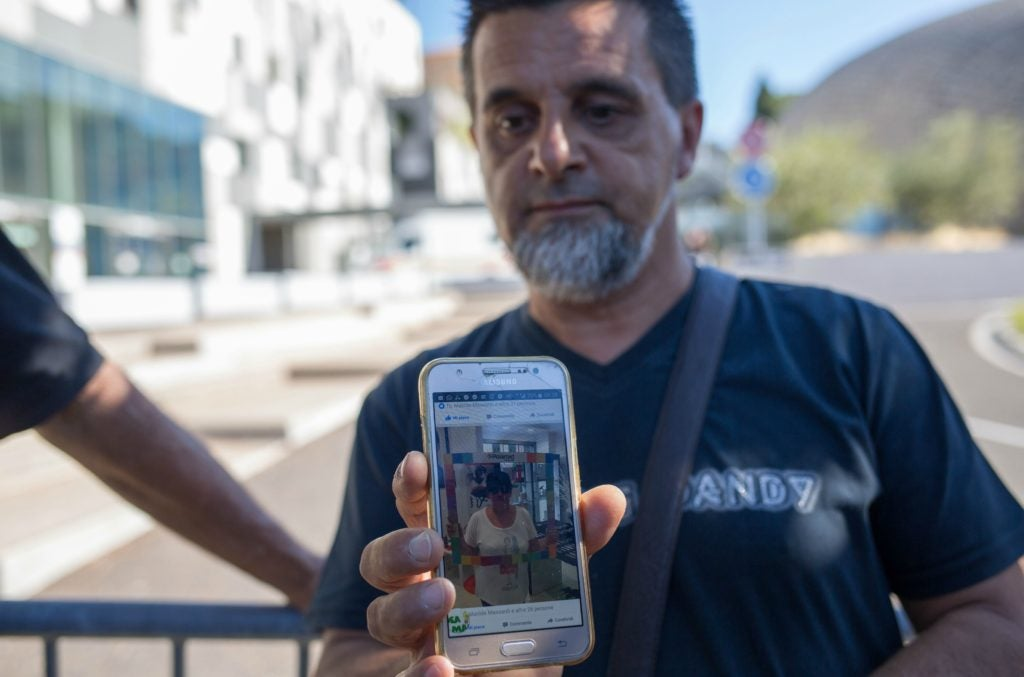 Italian Piero Massardi shows a picture of his wife Carla Gaveglio, who is still missing after the victims of terrorist attack on Bastille day at the Promenade des Anglais in Nice, France. (Photo: Irina Kalashnikova/SIPA/Newscom)