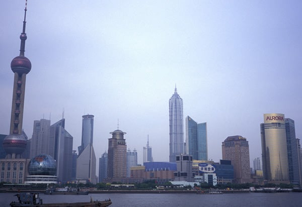 Skyline in Shanghai, China