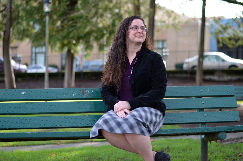 "Janine Simon, a mom of two, helped start the group ""Keep Locker Rooms Safe"" to advocate against Washington's bathroom and locker room policies. (Photo: Kelsey Harkness/The Daily Signal)"