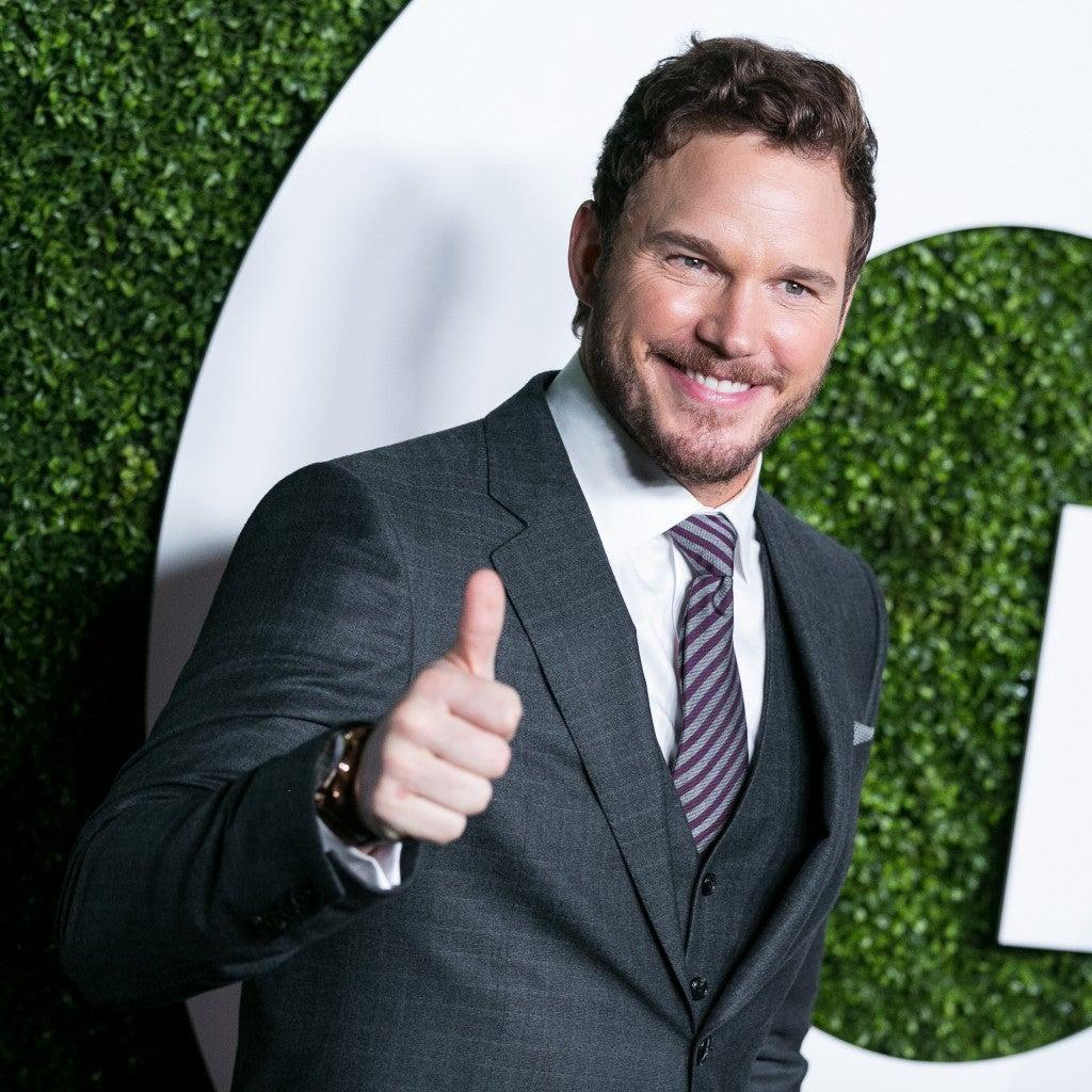 Chris at GQ's Annual Men of the Year Party in Hollywood. (Photo: John Salangsang/Newscom)