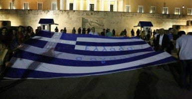 Those worried about Greece should consider the fiscal pressures on the U.S. (Photo: Pacific Press/Sipa USA/Newscom)