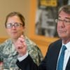 Secretary of Defense Ash Carter dishonors their sacrifices by suggesting that these Americans who actually died for the Constitution failed to live by the Constitution themselves.  (Photo: Department of Defense/Sipa USA/Newscom)