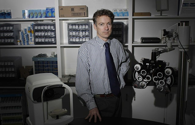 Dr. Paul, the ophthalmologist, in is Bowling Green office in 2008. (Photo: Evan F. Sisley/Sipa Pres/Newscom)