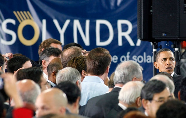 US President Barack Obama at Solyndra Co.