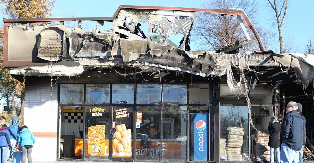 A business in Ferguson, Mo. ruined by the riots. (Photo: Newscom)