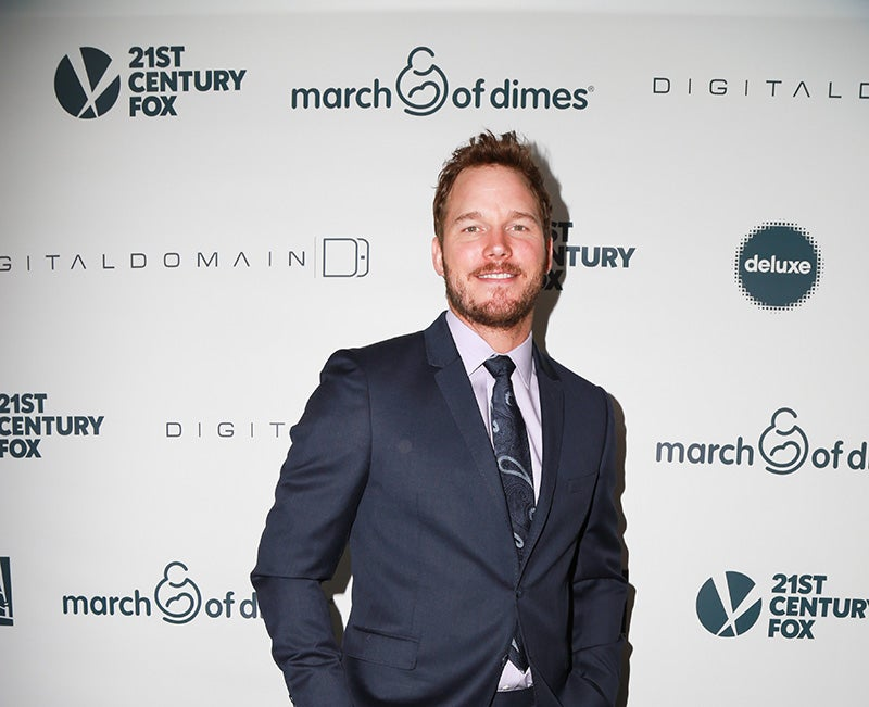 Chris arrives at the March of Dimes Celebration of Babies at the Regent Beverly Wilshire Hotel in Beverly Hills. (Photo: Newscom)