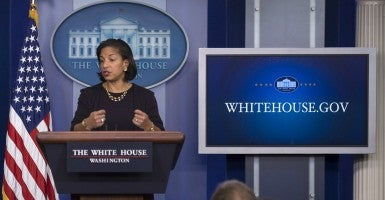 National Security Advisor Susan Rice speaks to the media during the White House daily briefing at the White House on Nov. 7. The talking points she used after Benghazi continue to be controversial. (KEVIN DIETSCH/UPI/Newscom)