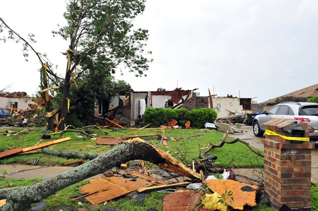 Damage Caused by Texas Tornados