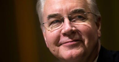 Tom Price, a surgeon who represented Georgia in the House for 12 years, will oversee the repeal and replacement of Obamacare as secretary of health and human services. (Photo: Jim Lo Scalz/EPA /Newscom)