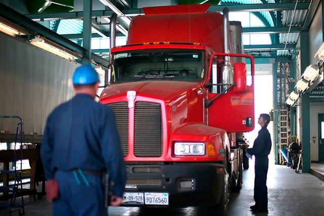 Union leaders protest trucking agreement with Mexico