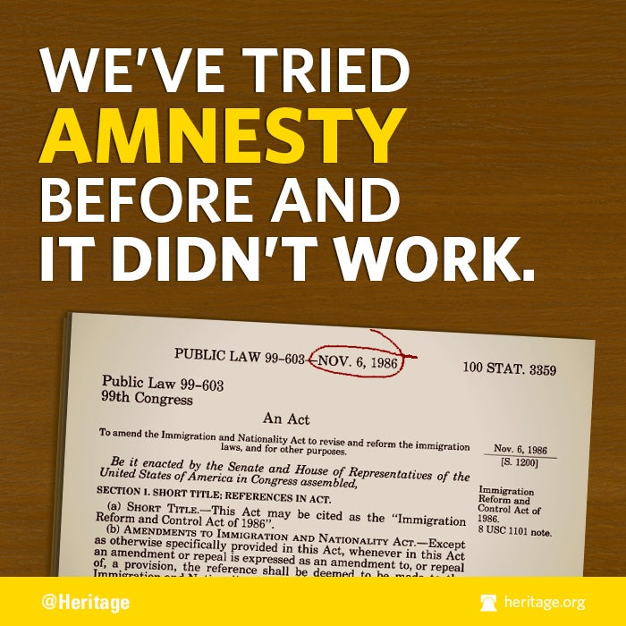 We've tried amnesty before