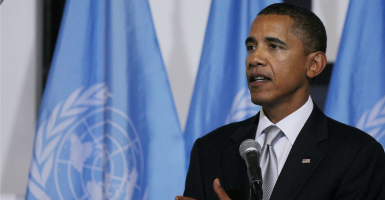 President Obama at the U.N. (Photo: Spencer Platt/iStockphoto)