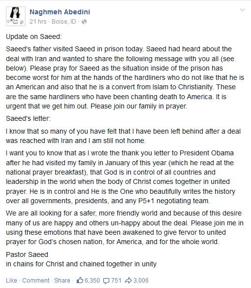 update on saeed