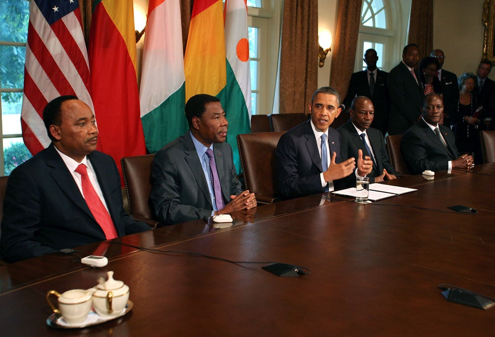Obama meets with African leaders 7-29-11