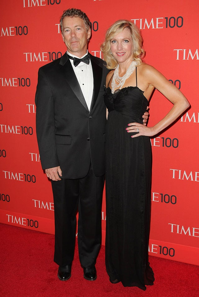 Paul and his wife Kelley arrive at the TIME 100 Gala at Jazz at Lincoln Center on April 23, 2013. Paul was on the list of  100 most influential people in the world. (Photo: UPI/Monika Graff /Newscom)