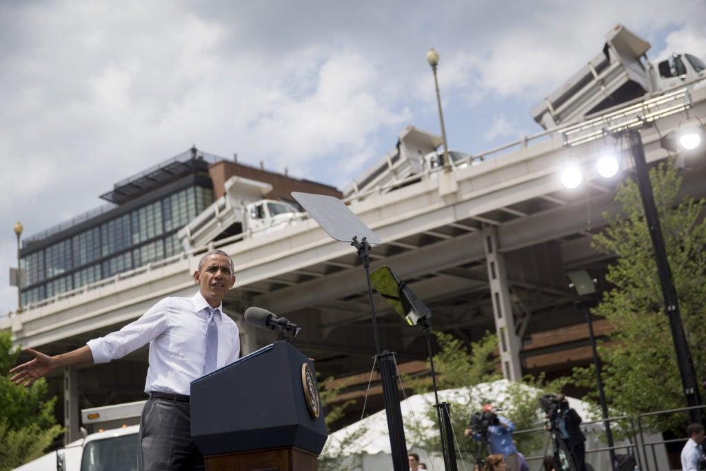 In 2009, President Barack Obama was able to push his $840 billion stimulus plan through Congress -- dedicating $105 billion to infrastructure. (Photo: Andrew Harrer/UPI/Newscom)