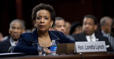 Loretta Lynch, United States Attorney for the Eastern District of New York, testifies before a Senate Judiciary Committee hearing on her nomination to be U.S. attorney general on Jan. 28, 2015. (Photo: Pete Marovich/UPI/Newscom)