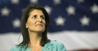 Gov. Nikki Haley, R-S.C., signed a bill into law that implements the study of U.S. founding documents into the state's public  schools. (Photo: Kevin Dietsch/UPI/Newscom