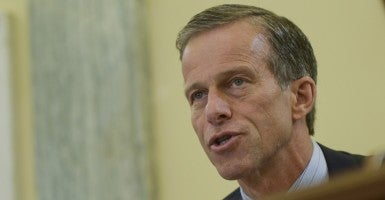 Sen. John Thune, of South Dakota, discussed allegations made against Facebook for suppressing conservative news content on a Facebook Live broadcast with The Daily Signal. (Photo: UPI/Newscom)