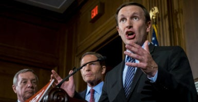 Four gun amendments were voted on less than a week after Sen. Chris Murphy, D-Conn., filibustered to support a universal background check system to stop terrorists from acquiring guns. (Photo: Pete Marovich/UPI/Newscom