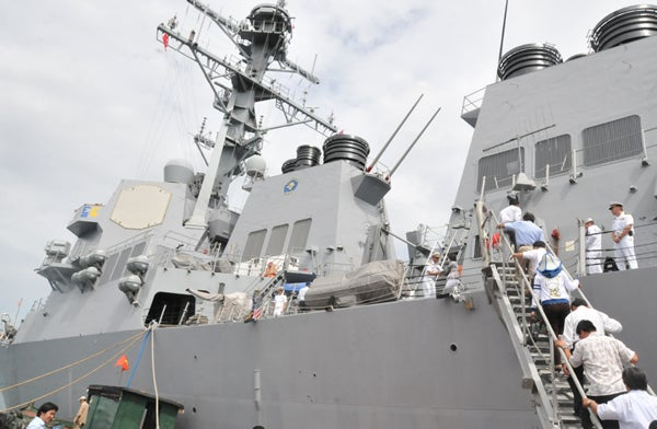 USS Preble in Da Nang, Vietnam, on July 19, 2011