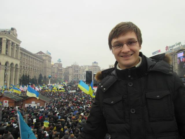 Valentyn Onyshchenko was 21 years old during the 2014 revolution; two years later he says he's disappointed with the pace of Ukraine's anti-corruption reforms. (Photo courtesy of Valentyn Onyshchenko)