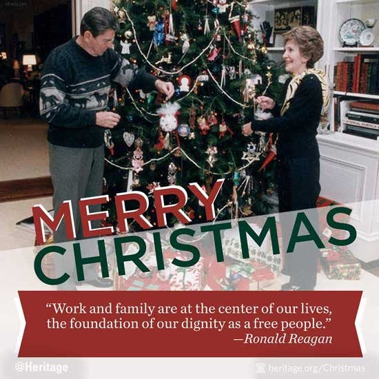 Reagan Christmas card