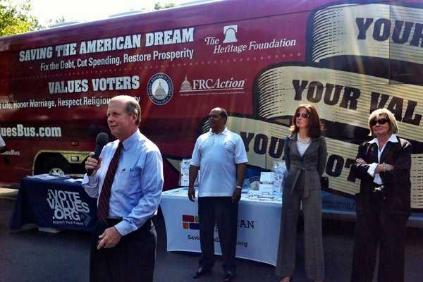Rep. Tim Walberg (R-MI) on the Values Bus