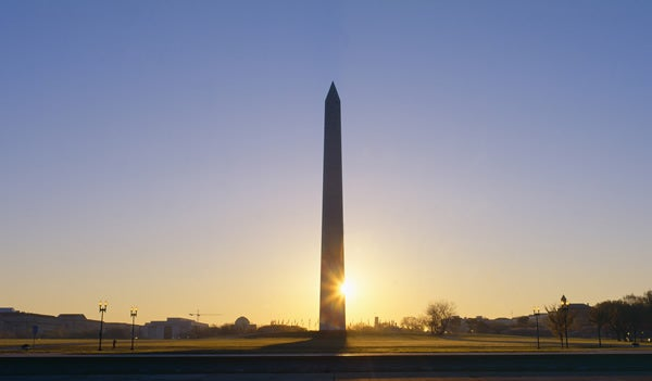 Washington Monument at sunrise