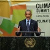 President Barack Obama speaks during the Climate Summit at the UN headquarters in New York on Sept. 23. (Photo: Xinhua/Yin Bogu)
