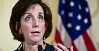 Roberta Jacobson, assistant secretary of state for Western Hemisphere affairs, spoke at a press conference in Havana, Cuba Jan. 23. (Photo: Xinhua/Liu Bin)