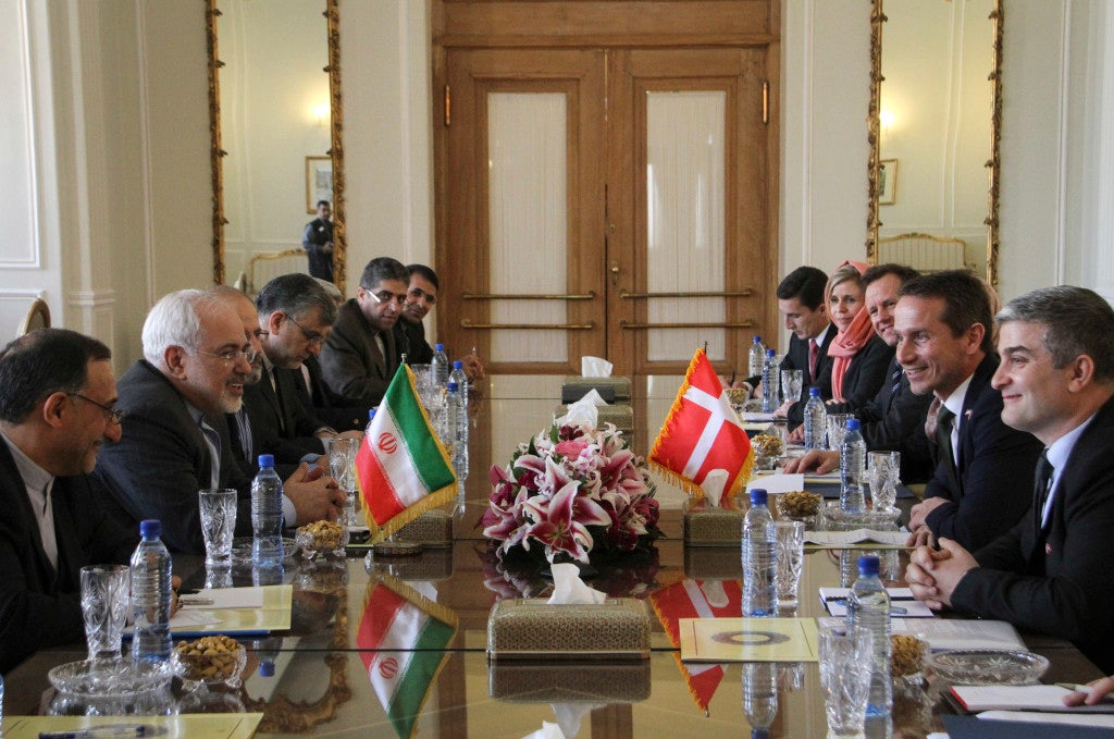 After negotiating the nuclear deal with U.S. Secretary of State John Kerry, Iranian Foreign Minister Mohammad-Javad Zarif (second from left) is more involved with international affairs. (Photo: Ahmad Halabisaz Xinhua News Agency/Newscom)