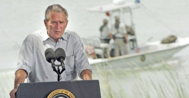 President George W. Bush on the U.S.-Mexico border in 2006. (Photo: Delcia Lopez/San Antonio Express-News/ZUMAPRESS.com)