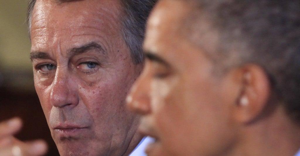 House Speaker John Boehner led Republicans in a lawsuit against the administration. (Photo: Dennis Brack/Newscom)