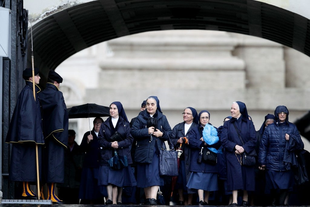 Nuns arrives for the Pope Francis Wednesday General Audience in St. Peter's Square at the Vatican Dec. 3. (Photo: Evandro Inetti/Newscom)